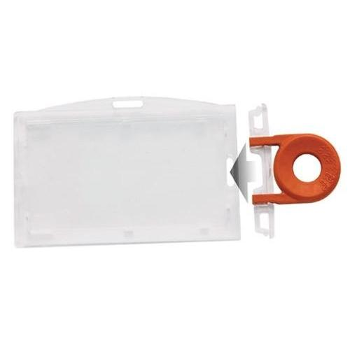 Clear Horizontal Locking Plastic Card Holder (P/N 1840-6610)