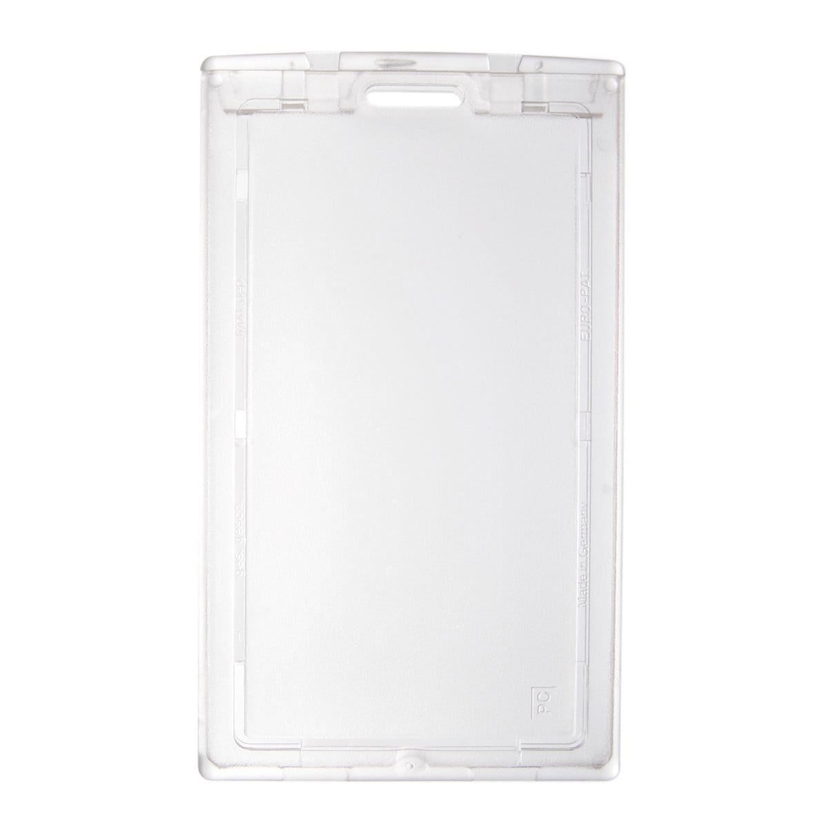 Clear Vertical Locking Plastic Card Holder (P/N 1840-6630)