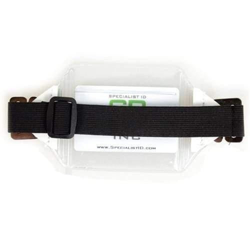 Vinyl Horizontal Arm Band Badge Holder With Elastic Strap (P/N 1840-7000)