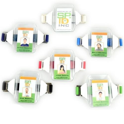 Vertical Armband ID Badge Holders with Elastic Strap (1840-7010)