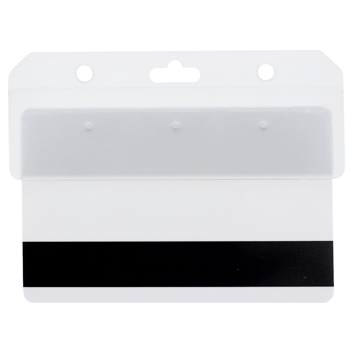 Frosted Rigid Plastic Horizontal Half Card Holder (1840-8000)