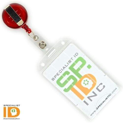 Vertical Open Faced Plastic ID Badge Card Holder (1840-816X)