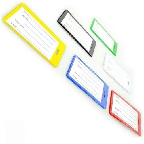 Semi-Rigid Vinyl Luggage Tag Holder with Loop (1845-200X)