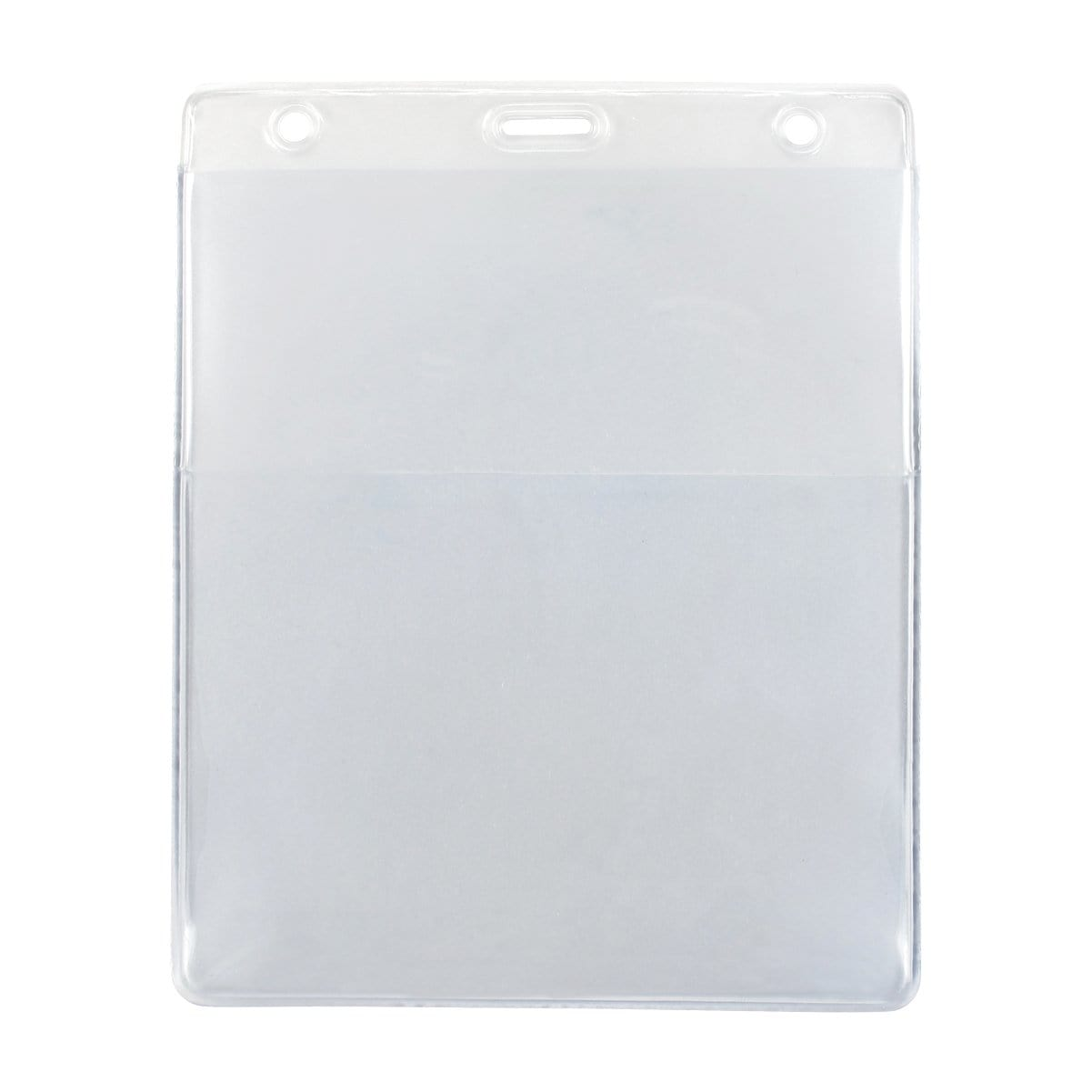 Clear Vertical Event Vinyl Credential Wallet With Two Pockets 4x5 and 4x3 (1860-4000)