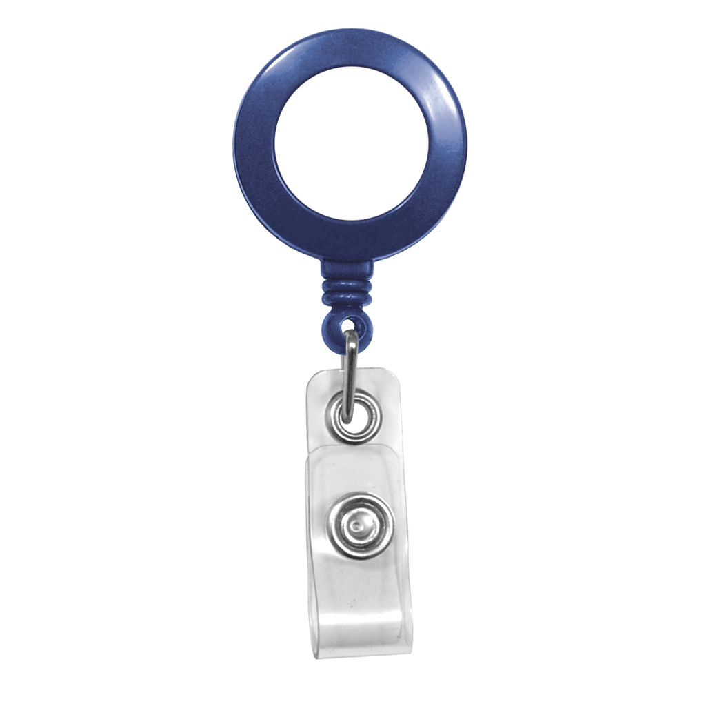 Customize blue retractable badge reel