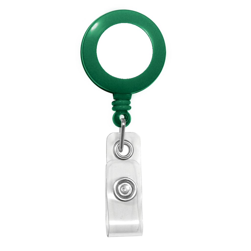 Customize green custom retractable badge reel