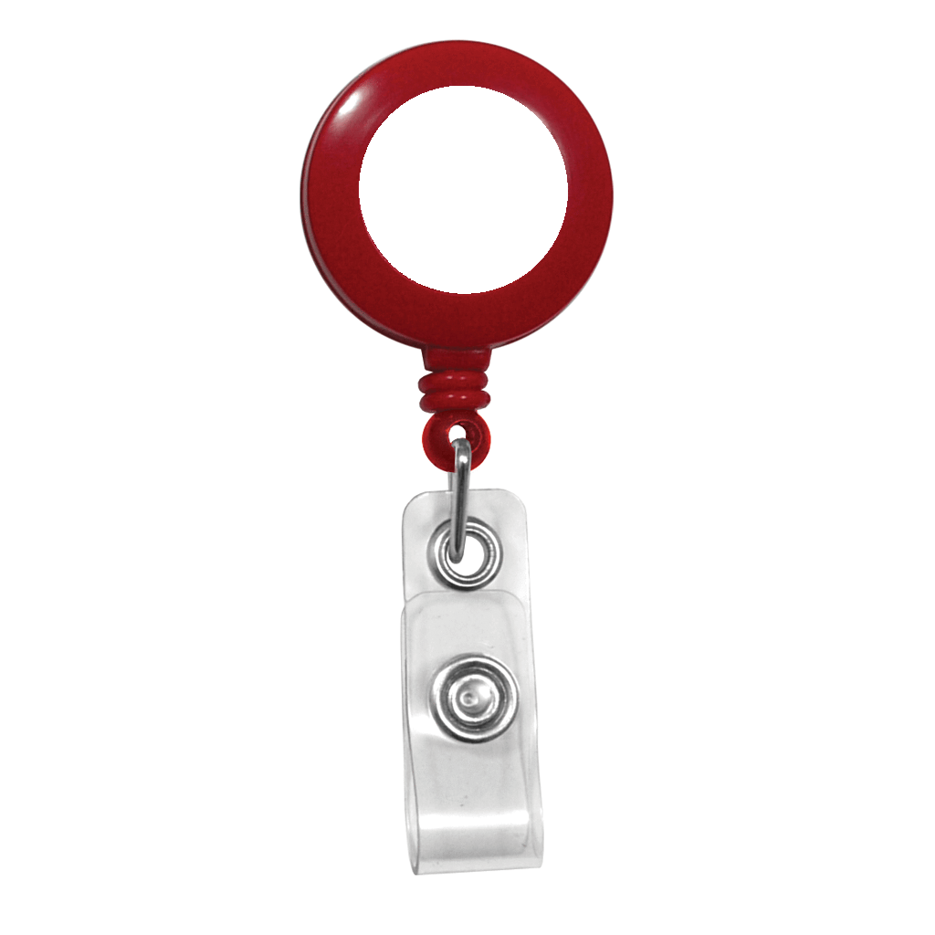 Custom Print Red Badge Reel