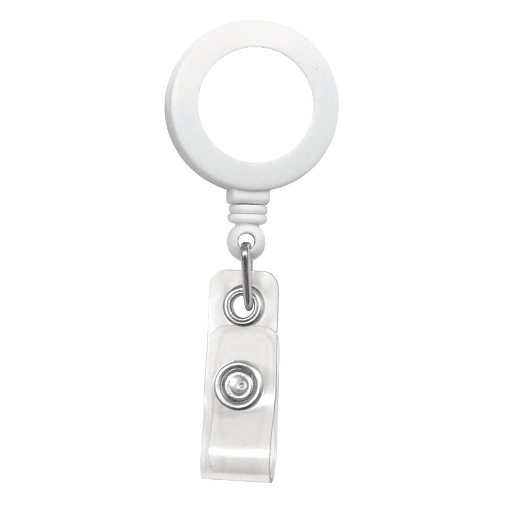 Customize white retractable badge reel