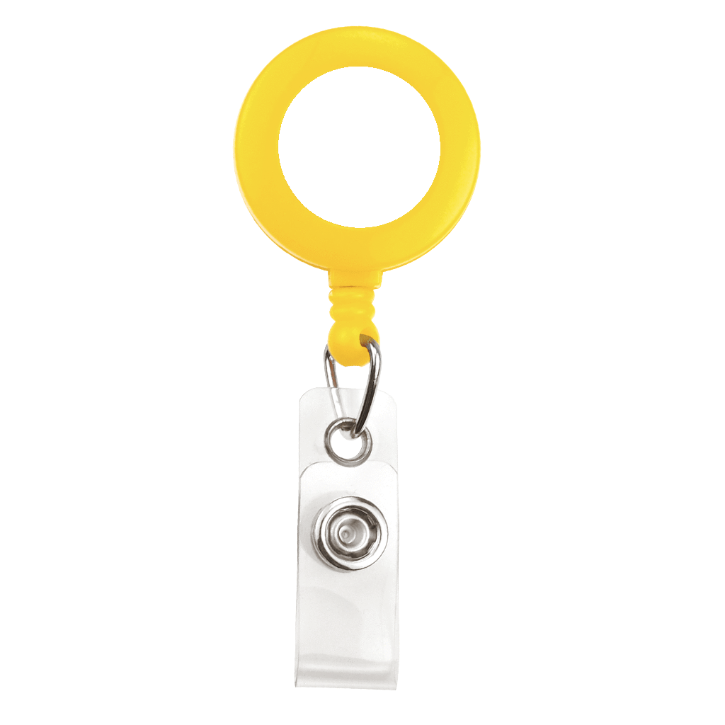 Custom Printed Yellow Badge Reel