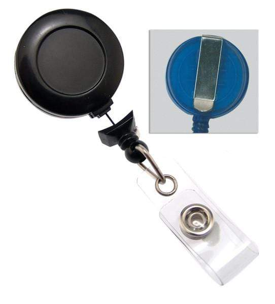 """No Twist"" Badge Reel With Clear Vinyl Strap And Belt Clip (P/N 2120-305X)"