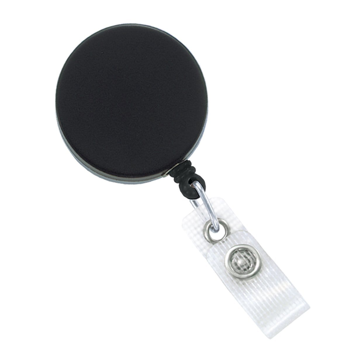 Black Chrome Heavy Duty Badge Reel with Belt Clip (2120-3300)