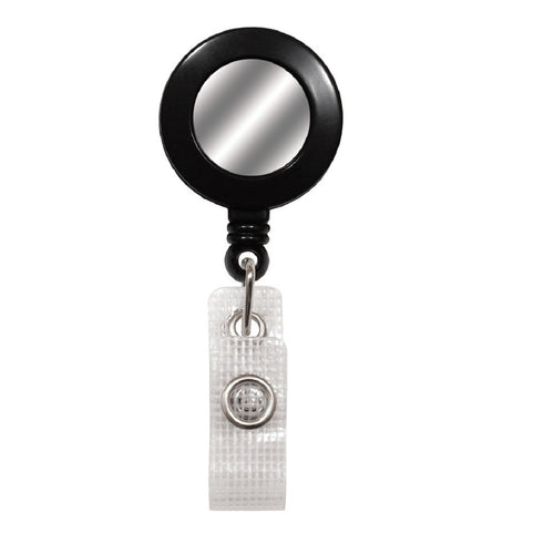 Badge Reel With Silver Sticker, Reinforced Vinyl Strap & Spring Clip (P/N 2120-450X)