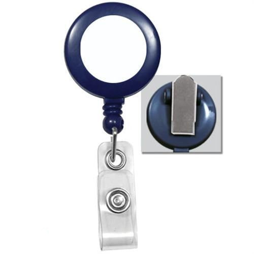 Buy Online Cheap, Blue Badge Reel W/ Silver Sticker, Clear Vinyl Strap & Spring Clip.  2120-4602