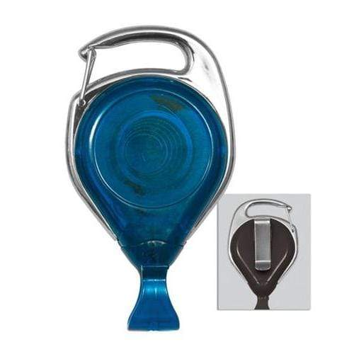 Buy Online Cheap, Translucent Blue Proreel (Carabiner Style) W/ Card Clip & Belt Clip.  2120-7062