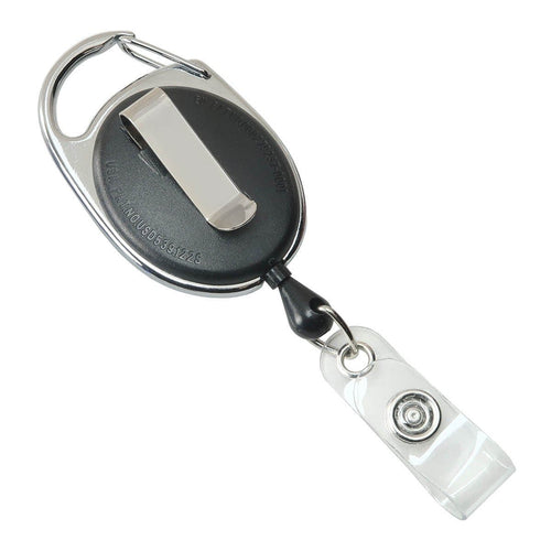 Premium Oval Badge Reel with Carabiner and Belt Clip (2120-71XX)