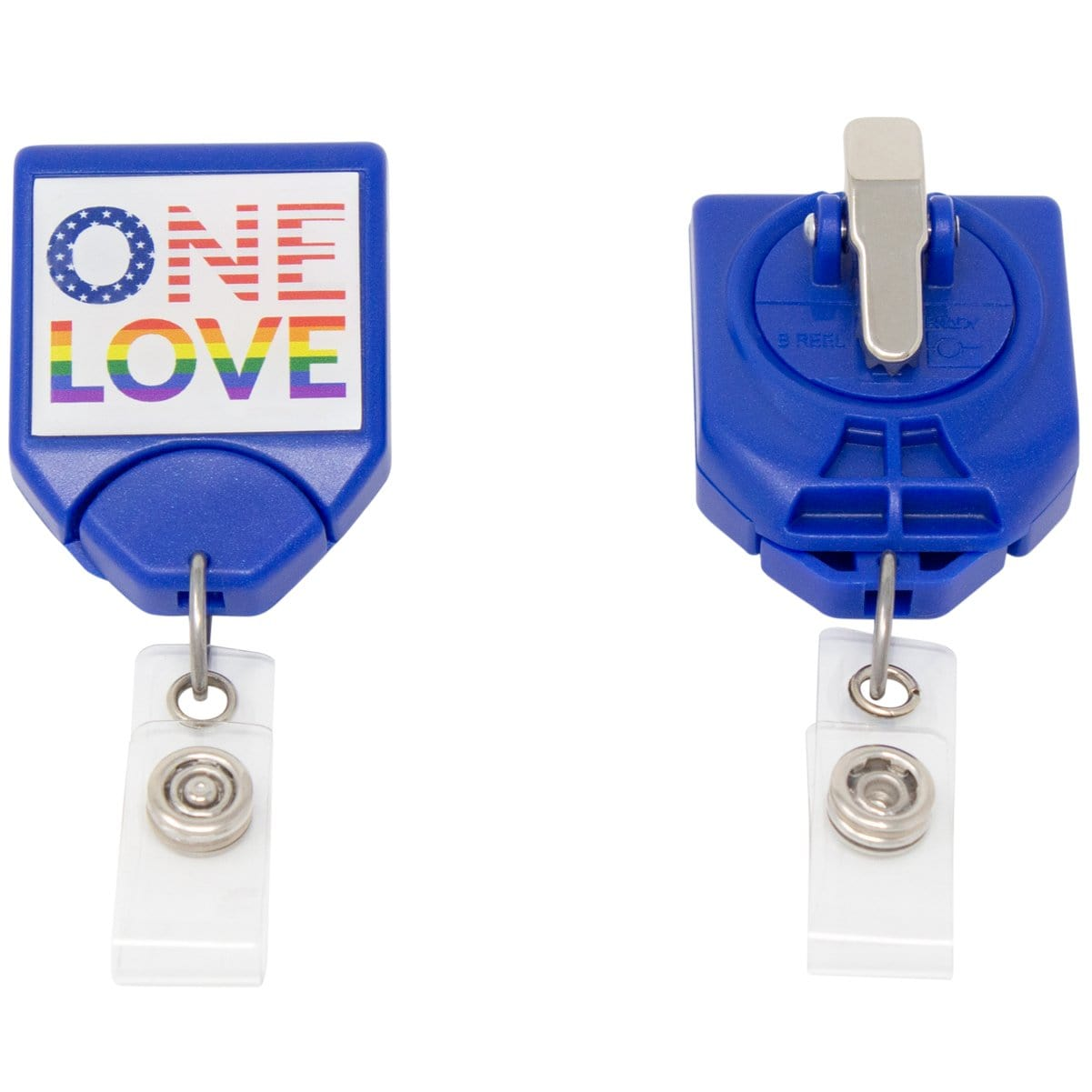 ONE LOVE Patriotic B-Reel with Swivel Clip (P/N 2120-7654)