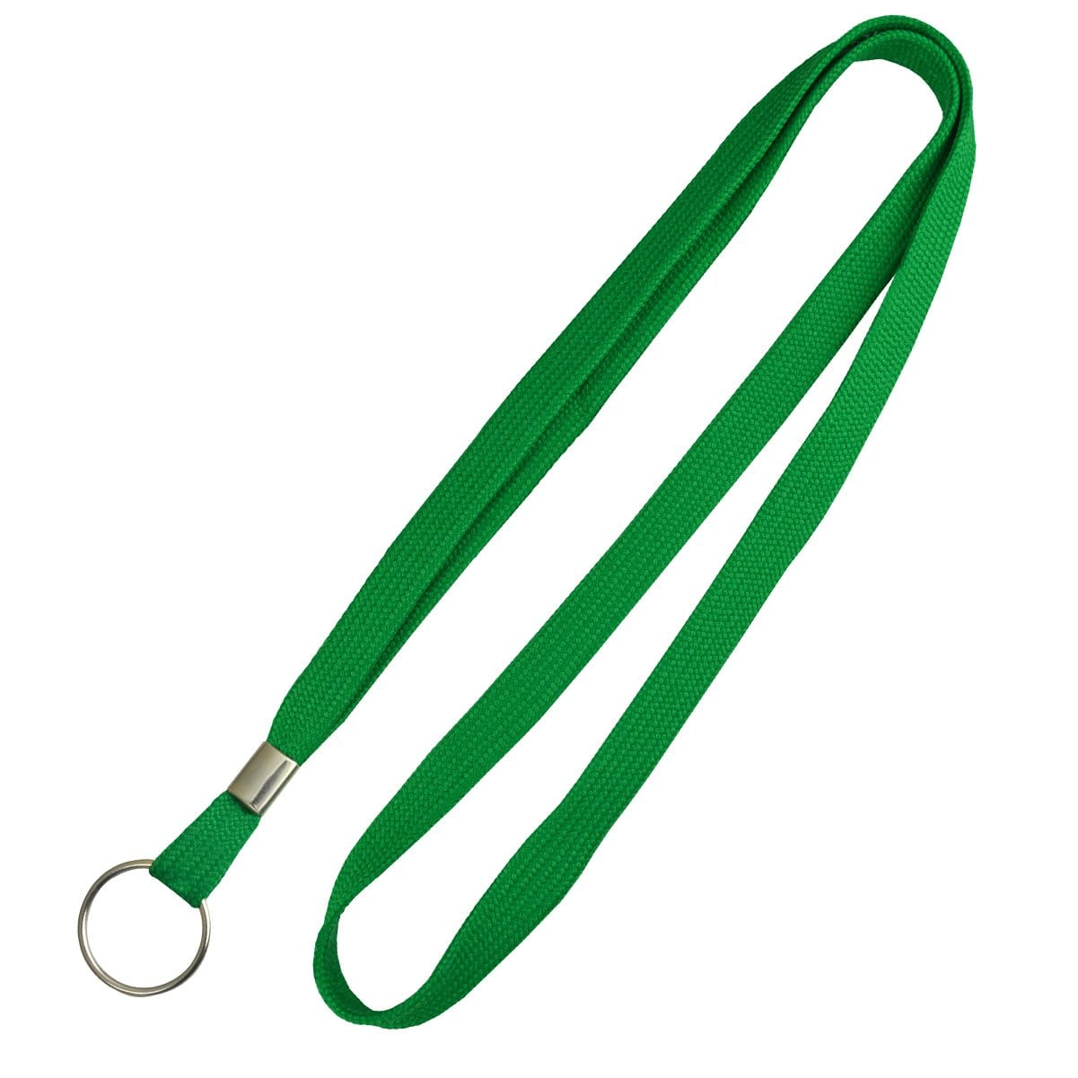 Flat Braid Woven Lanyard With Nickel-Plated Steel Split Ring 2135-365X