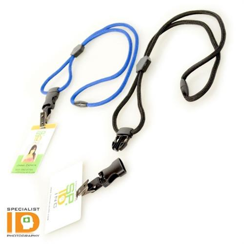 Heavy Duty Breakaway Round Lanyard With Detachable Bulldog Clip 2135-451X