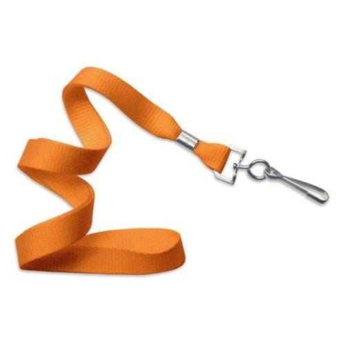 "Buy Online Cheap, Orange 5/8"" (16 Mm) Microweave Polyester Lanyard W/ Nickel-Plated Steel Swivel Hook.  2136-3505"