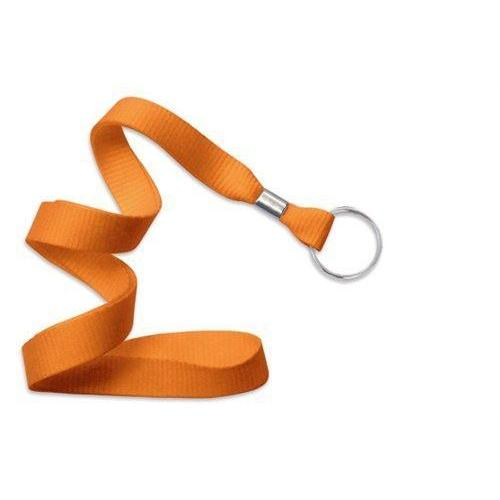 "Buy Online Cheap, Orange 5/8"" (16 Mm) Microweave Polyester Lanyard W/ Nickel-Plated Steel Split Ring. 2136-3655"