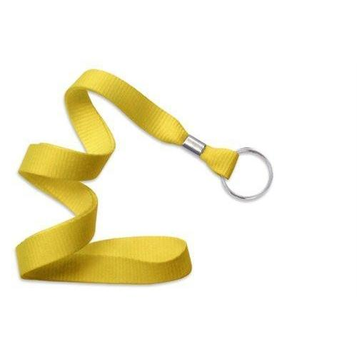 "Buy Online Cheap, Yellow 5/8"" (16 Mm) Microweave Polyester Lanyard W/ Nickel-Plated Steel Split Ring. 2136-3659"
