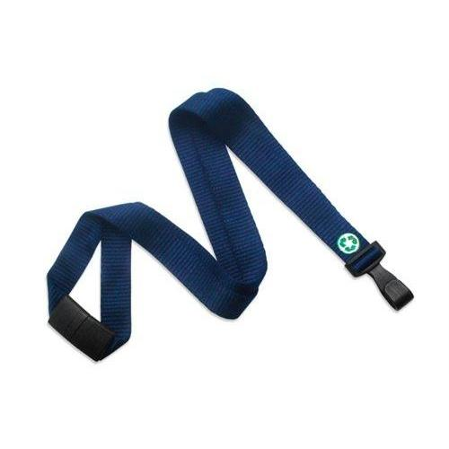 "Buy Online Cheap, Navy Blue Bamboo 5/8"" (16 Mm) Flat Lanyard  W/  Breakaway And ""No-Twist"" Wide Plastic Hook 2137-2052"