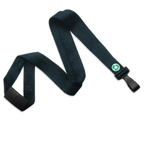 "Order Online, Forest Green Bamboo 5/8"" (16 Mm) Flat Lanyard With Breakaway And ""No-Twist"" Wide Plastic Hook (P/N 2137-2053)"