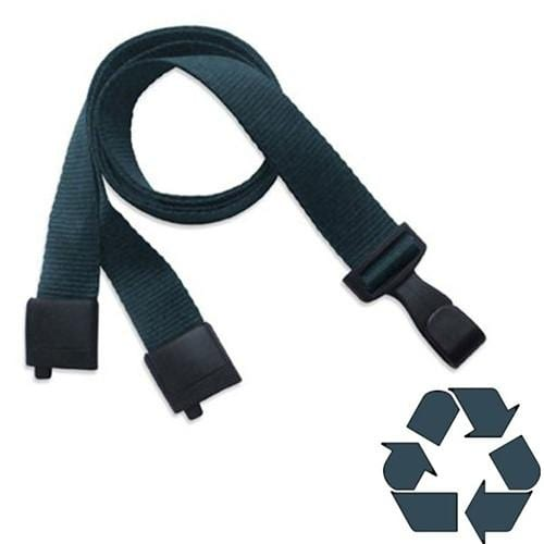 "Order Online, Earth Friendly Forest Green Recycled ""No Twist"" Lanyard  With Breakaway (P/N 2137-2065)"