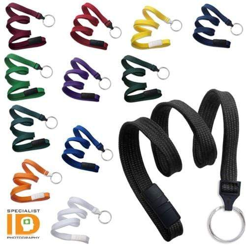 Flat Breakaway Lanyard With Key Chain Split Ring  2137-365X