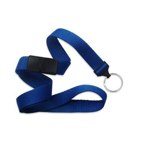 "Buy Online Cheap, Royal Blue 5/8"" (16 Mm) Microweave Polyester Breakaway Lanyard W/ A Universal Slide Adapter And Nickel-Plated Steel Split Ring. 2138-3652"