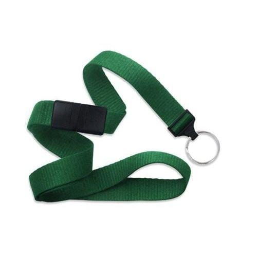 "Buy Online Cheap, Green 5/8"" (16 Mm) Microweave Polyester Breakaway Lanyard W/ A Universal Slide Adapter And Nickel-Plated Steel Split Ring. 2138-3654"