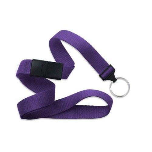 "Buy Online Cheap, Purple 5/8"" (16 Mm) Microweave Polyester Breakaway Lanyard W/ A Universal Slide Adapter And Nickel-Plated Steel Split Ring. 2138-3663"