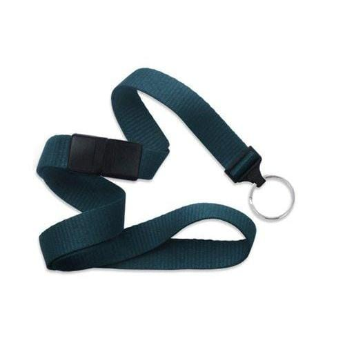 "Buy Online Cheap, Teal 5/8"" (16 Mm) Microweave Polyester Breakaway Lanyard W/ A Universal Slide Adapter And Nickel-Plated Steel Split Ring. 2138-3666"