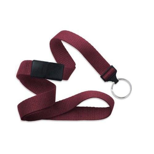 "Buy Online Cheap, Maroon 5/8"" (16 Mm) Microweave Polyester Breakaway Lanyard W/ A Universal Slide Adapter And Nickel-Plated Steel Split Ring. 2138-3667"
