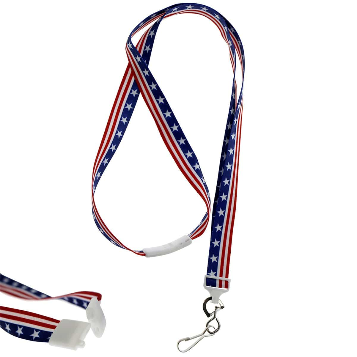 American Flag Breakaway Lanyard with Swivel Hook (P/N 2138-5081)