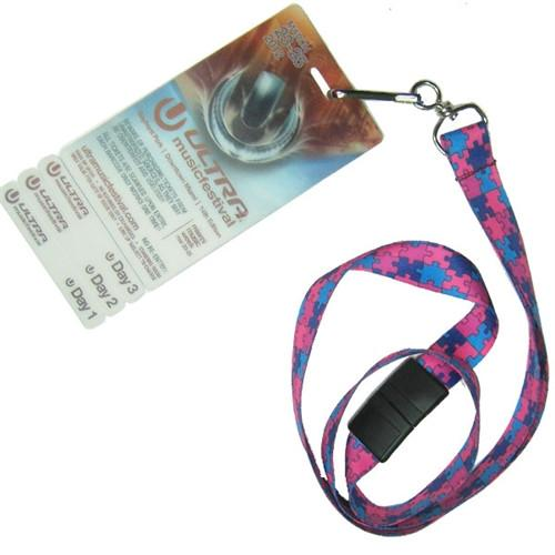Autism Awareness Flat Breakaway Lanyard With Swivel Hook (2138-5281, 2138-5282)