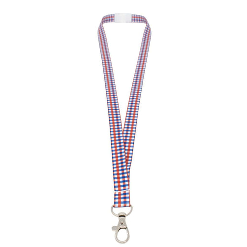 "USA Plaid Breakaway 5/8"" Lanyard with Lobster Hook (P/N 2138-5303)"