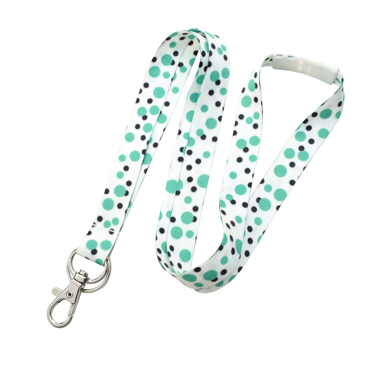 Cute Polka Dot Pattern Fashion Lanyard With Lobster Hook And Key Ring(P/N 2138-728X)
