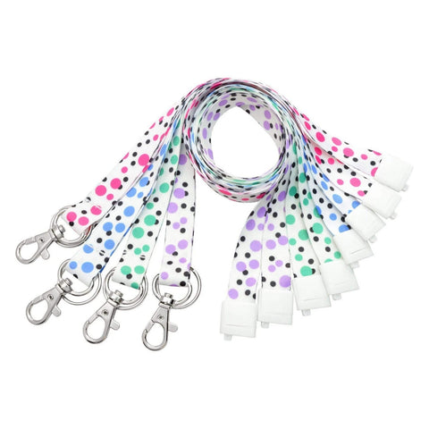 Kids Face Mask Lanyard / Hanger with Safety Breakaway Clasp - Short Length for Childrens Facemasks