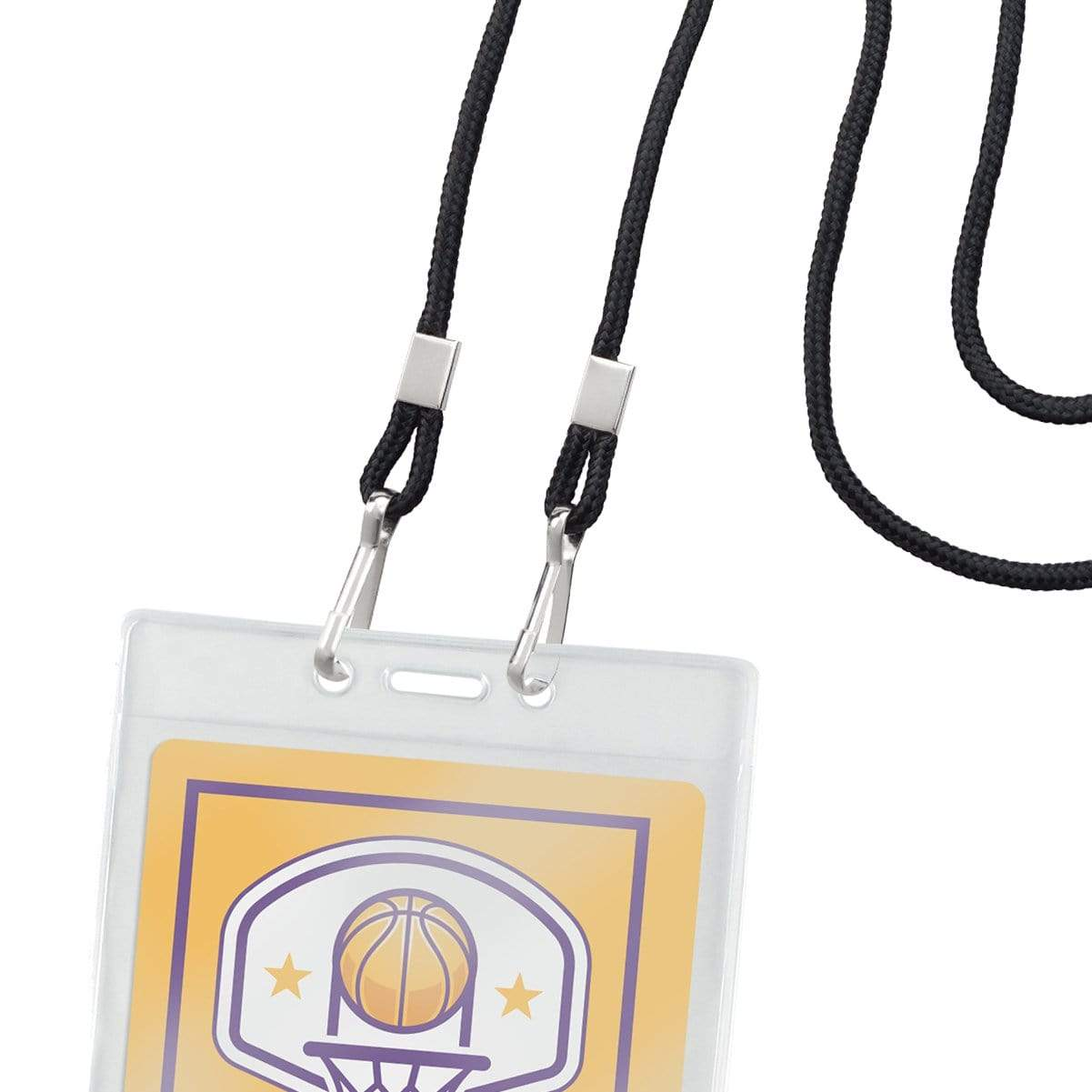 Round Special Event Lanyard with Two Clips 2140-580X