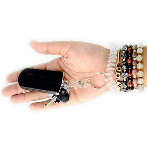 Wrist Coil Key Chain with ID Strap Clip (2140-620X)