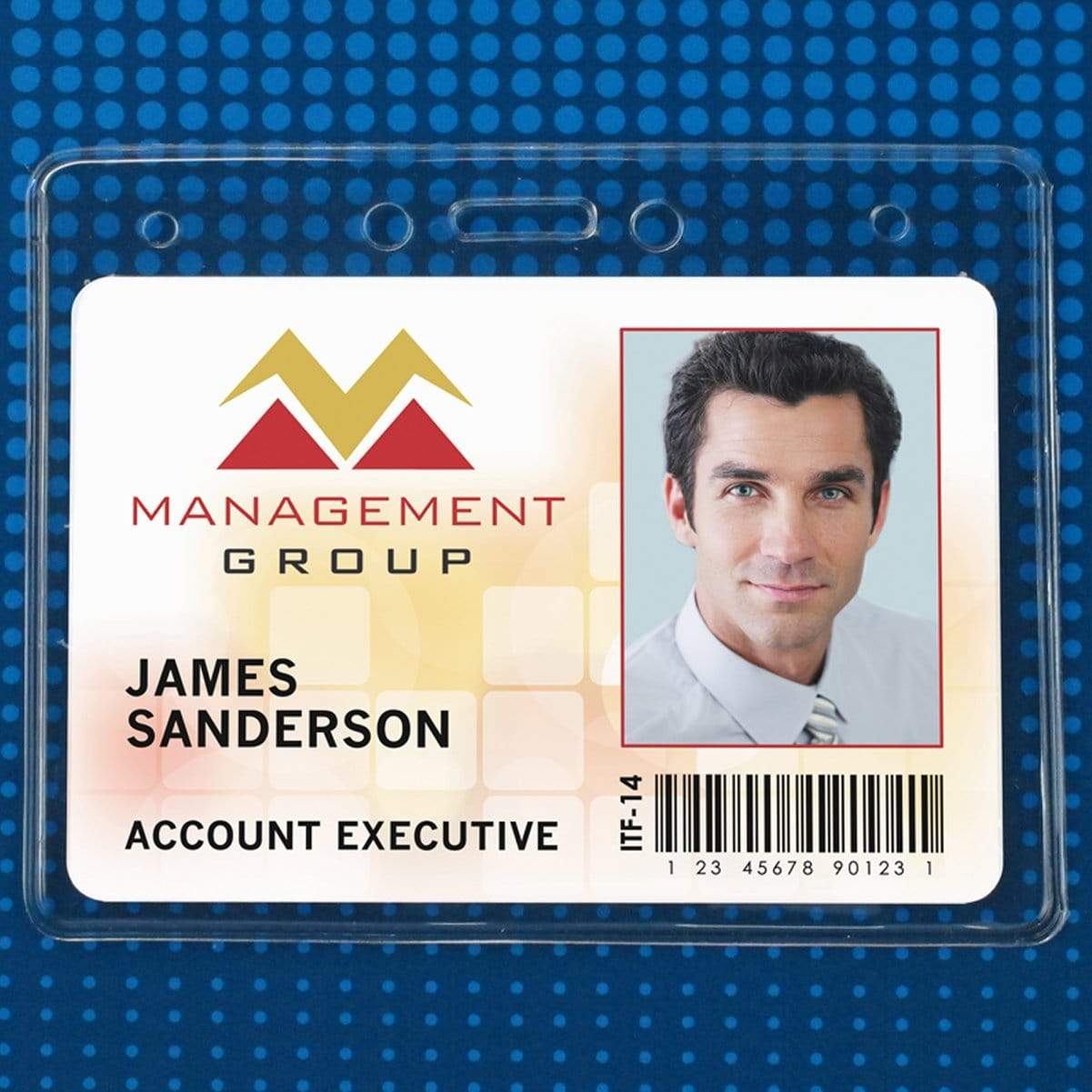 Vaccination Record Card Holders - Economical 4 x 3 Horizontal Badge Holder - Clear Vinyl with Lanyard Slot