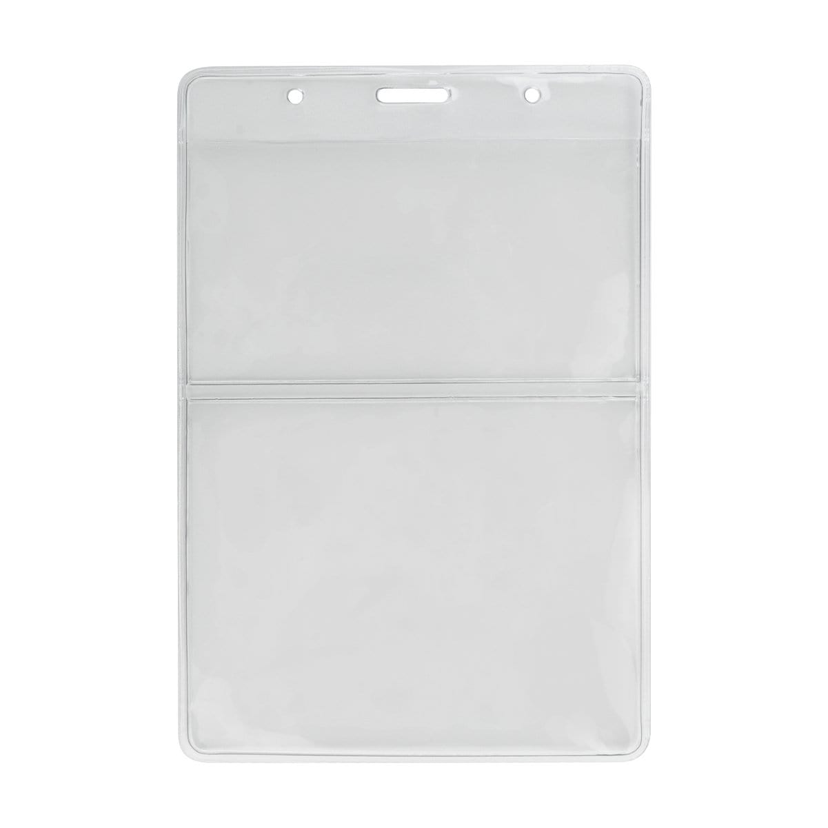 Clear Vertical Two Pocket 4x6 Special Event Badge Holder (P/N 306-2P46)
