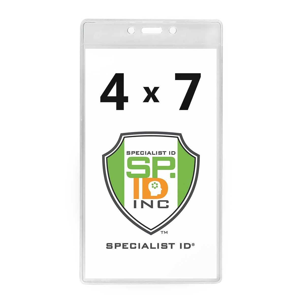 4 X 7 Clear Vertical Large Event Badge Holder (306-4258)