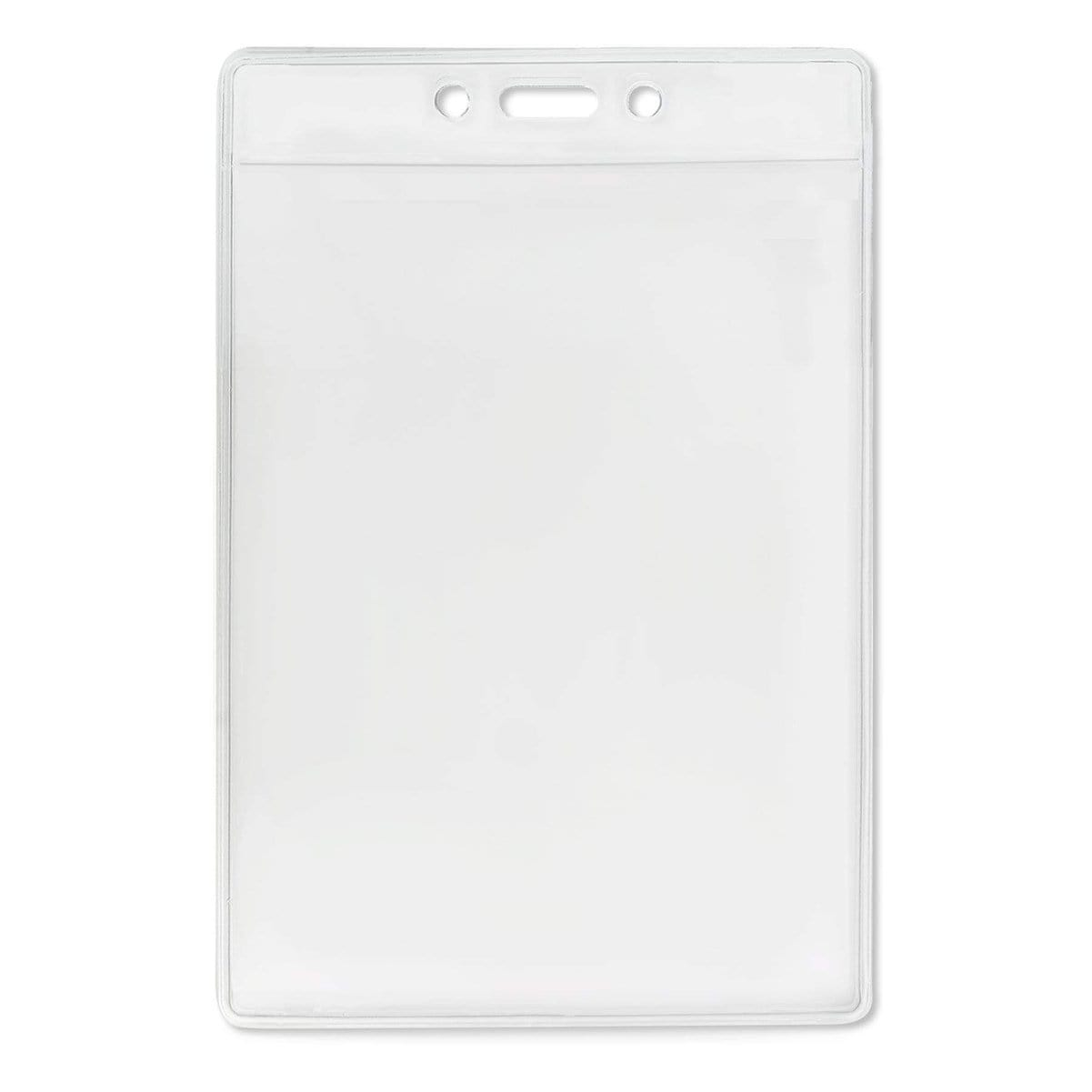 "3 1/2"" X 5 1/4""  Clear Vertical Large Event Badge Holder (P/N 306-46)"