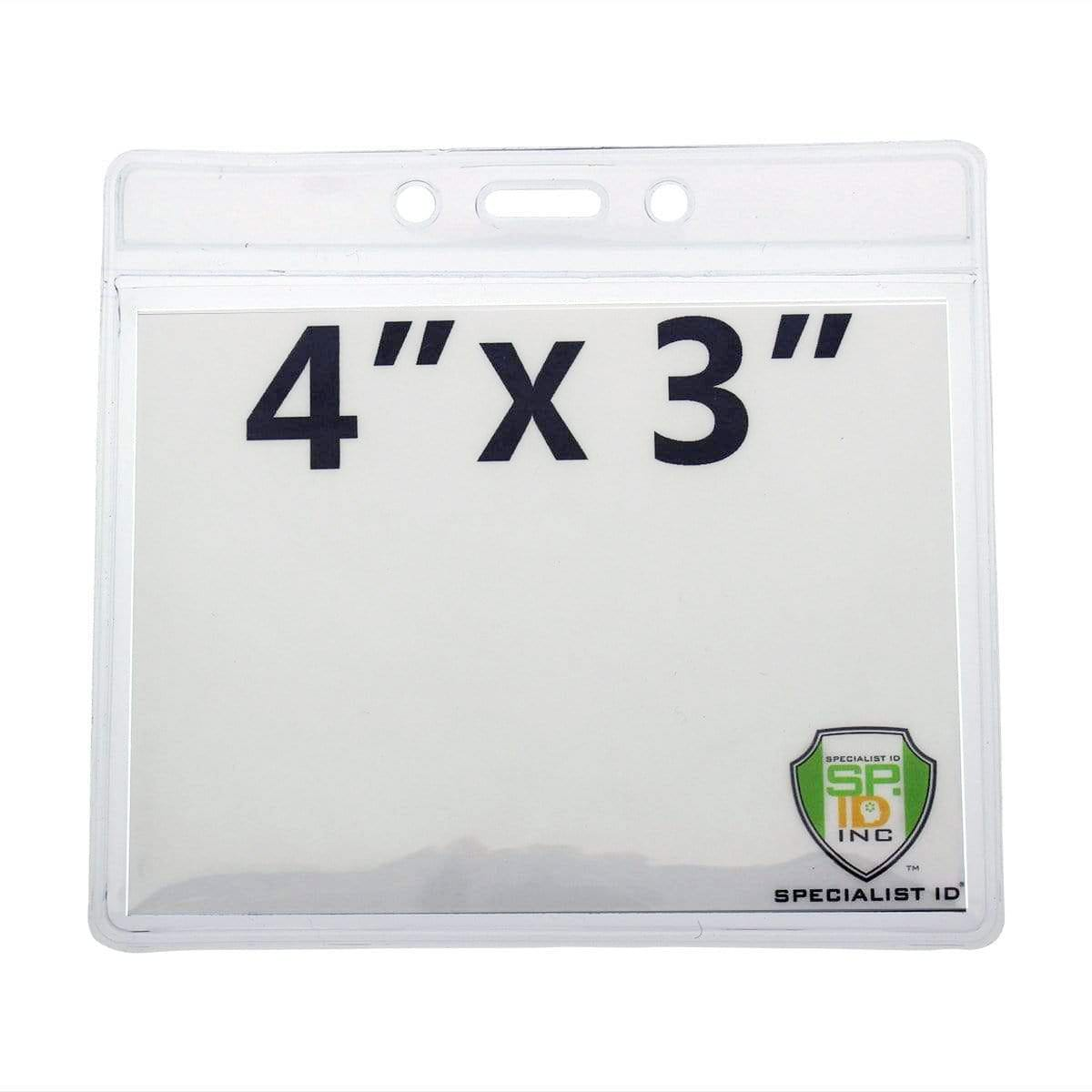 Clear 4X3 Horizontal Convention Size Badge Holder (406-J-CLR)