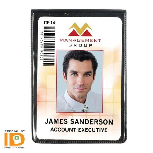 Vertical Government Oversize Magnetic ID Badge Holder 501-L