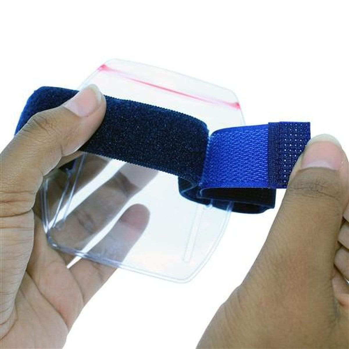 Vertical Armband ID Badge Holders with Zipper Top (504-ARZB & 504-ARZW)