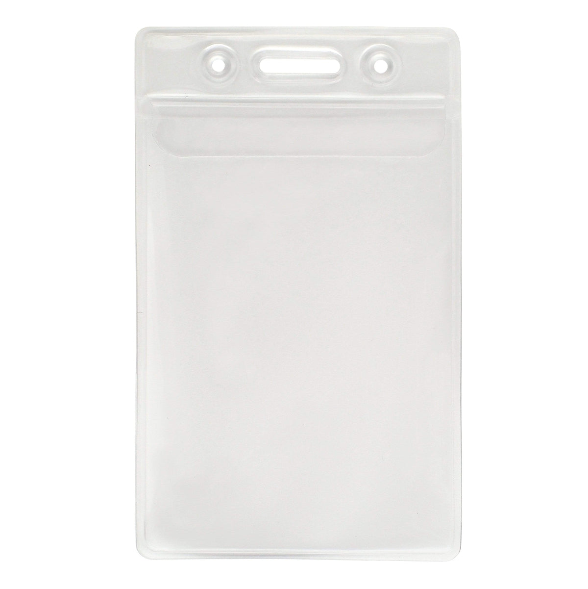 Vinyl Vertical Badge Holder with Flap (506-24FS)