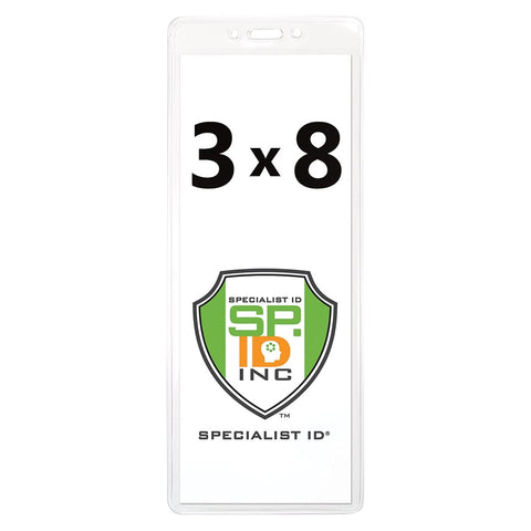 3 X 3 Clear Vinyl Horizontal Large Event Badge Holder (1840-1611)